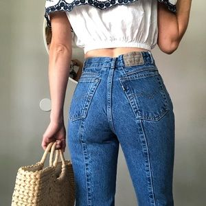 Vintage Levi's 900 series high waisted jeans
